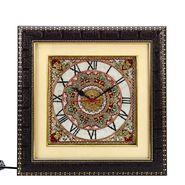 Handpainted Motifs Marble Wall Clock-MAR15382