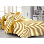Storyathome Cotton Mustard 1 Double Bedsheet With 2 Pillow Cover-MG1092