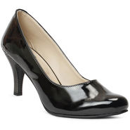 Meriggiare Patent Leather Black Peep Toes -Mgfh4015A