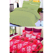 Set of 2 Valtellina Double Bedsheet With 4 Pillow Cover-MO002008