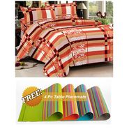 Storyathome Peach Contemporary 1 Double Bedsheet With 2 Pillow Cover -MT1227_TT
