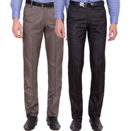 Tiger Grid Pack Of 2 Cotton Formal Trouser For Men_Md011
