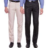 Tiger Grid Pack of 2 Cotton Formal Trouser For Men_Md015