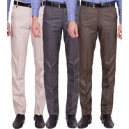 Tiger Grid Pack Of 3 Cotton Formal Trouser For Men_Md054