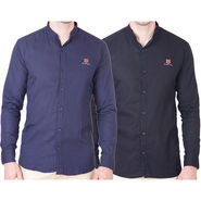 Cliths Pack of 2 Cotton Shirts For Men_Md066