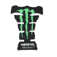 Monster Bike Petrol Tank Stylish Pad-Green(Fits to All) - Pack of 2