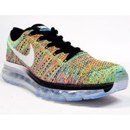 Nike Mesh Flyknit Max Yellow Sports Shoes -os04