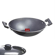 OK Non Stick Kadahi with Lid-K4 - Black