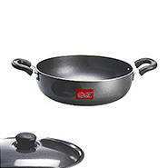 OK Non Stick Kadahi with Lid-KD2 - Black
