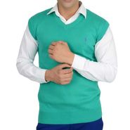 Branded Regular Fit Cotton Sweater_Os12 - Teal Green