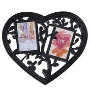 Cute Heart Shape Collage Photoframe In Black Shade