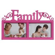 Lovely Pink 2 Pictures Collage Photo Frame