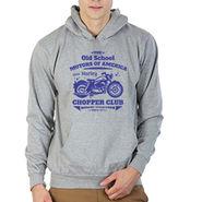 Printland Full Sleeves Cotton Hoodies_Pg1112 - Grey