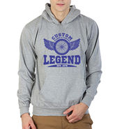 Printland Full Sleeves Cotton Hoodies_Pg1137 - Grey