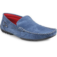 Pede Milan Suede Leather Blue Loafers -pde11