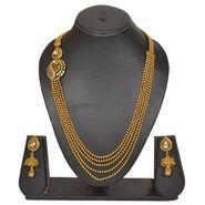 Pourni Stylish Brass Necklace Set_Prnk72 - Golden