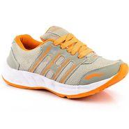Provogue Mesh Sport Shoes Pv1097-Lt.Grey & Orange-40