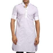 Runako Regular Fit Printed Party Wear Pathani Kurta For Men_RK4112 - Multicolor