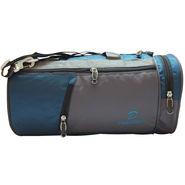Donex Nylon Blue Grey Gym Bag -Rsc01389