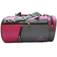 Donex Nylon Pink Grey Gym Bag -Rsc01390