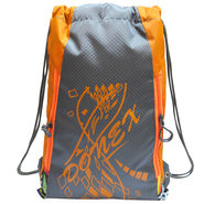 Donex Polyester Orange Grey Drawstring Bag -Rsc01538