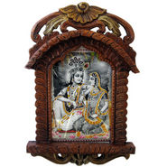 Radha Krishna Photo Frame Wooden Jharokha Gift 136