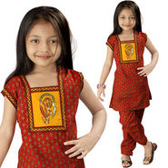 Little India Rajasthani Bagru Designer Cotton Salwar Suit - DLI3GED109A