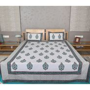 Rajrang Printed Double Bed Sheet With 2 Pillow Covres-BST01762