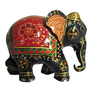 eCraftIndia Royal Painted Elephant Statue - Red