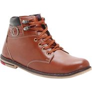 Branded Synthetic Leather Casual   Shoes Scomc322 -Brown