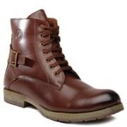 Designer High Ankle Boots - Brown