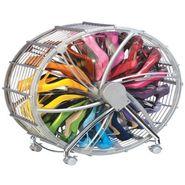 Shoe Storage Wheel Rack Silver - SHWHSL