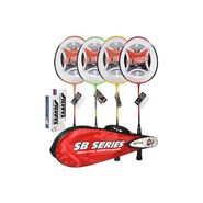 Silver's Pack Of 4 Badminton Kit - Multicolor