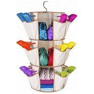 Smart Carousel Organiser 24 Pockets 3 Shelf Organizers Shoe Rack - SMRORG