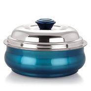 NanoNine 1000 ml Stainless Steel Belly Serving Pot-Blue_SS016