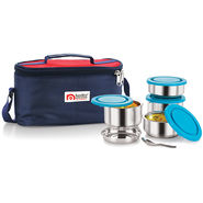 NanoNine Stainless Steel 4 Pcs Tiffiny Meal Pack With Lunch Bag_SS161