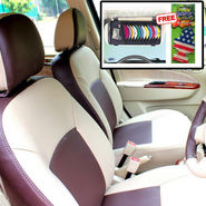Samsun Car Seat Cover for Volkswagen Polo  - Beige & Brown