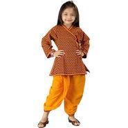 Little India Sanganeri Designer Motif Dhoti Angarkha Set - DLI3KED203C