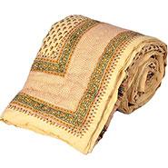 Little India Sanganeri Designer Printed Cotton Single Bed Razai - Cream