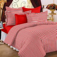 Storyathome  Cotton Red 2 Single Bedsheet with 2 Pillow Cover-TR1203