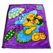 Mink Baby Blanket - Purple