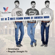 Set of 3 Men's Fashion Denims by American Indigo