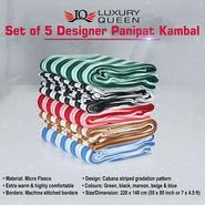 Set of 5 Designer Panipat Kambal