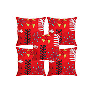 Set of 5 Rajrang Designer Cushion Covers - Red