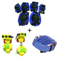 Set of Roller Skates, Safety Gear & Head Gear / Helmet