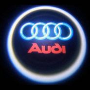 Set of 2 pcs Branded Car Door Welcome Light LED Projection Ghost Shadow Light Laser Audi Logo