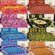 Shop Rajasthan 8 Cotton Double Bed Sheet with 16 Pillow Cover