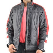 Truccer Basics Full Sleeves Polyester Jacket For Men_bkrbred1 - Black