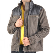 Truccer Basics Full Sleeves Cotton Jacket For Men_ctnzpdolv3 - Olive Green & Black