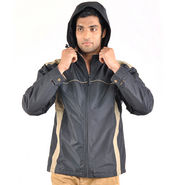 Truccer Basics Full Sleeves Polyester Jacket For Men_rpatblk5 - Black